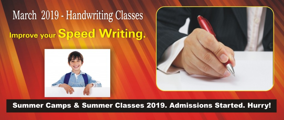 2. HANDWRITING CLASSES – MARCH 2019