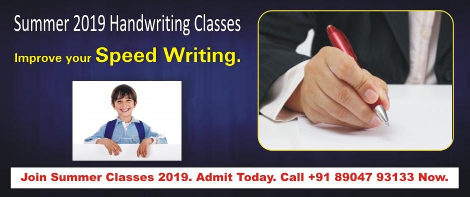 2. HANDWRITING CLASSES – APRIL 2019