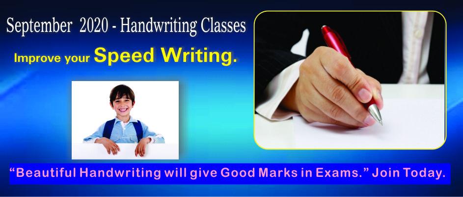 2. HANDWRITING CLASSES – SEPTEMBER 2020
