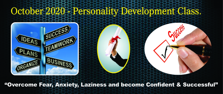 6. PERSONALITY DEVELOPMENT CLASSES – OCTOBER 2020